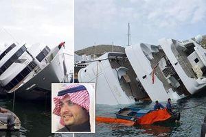 Siêu du thuyền trị giá 65 triệu bảng Anh của Hoàng tử Ả Rập Xê-út bị lật ngoài cảng