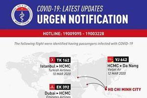Thông báo khẩn: Thêm các chuyến bay có hành khách mắc COVID-19