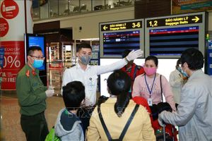 Lãnh đạo Bộ Công an thăm và động viên lực lượng công an cửa khẩu cảng Nội Bài