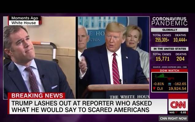 Trump 'mắng' phóng viên NBC làm báo kiểu 'giật gân' khi hỏi về Covid-19