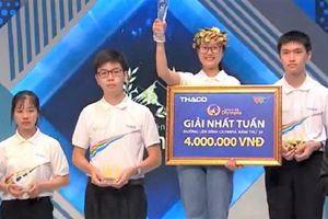 Nữ sinh Hà Nội giành chiến thắng kịch tính cuộc thi tuần Đường lên đỉnh Olympia