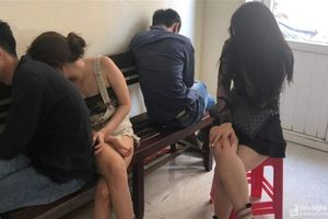 Bắt Việt kiều Đức và nhóm nam nữ mở 'tiệc ma túy' bay lắc trong 1 khách sạn lớn ở TP Vinh
