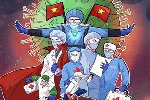 Y bác sĩ Việt hóa siêu anh hùng Marvel trong bộ tranh cổ vũ chống dịch