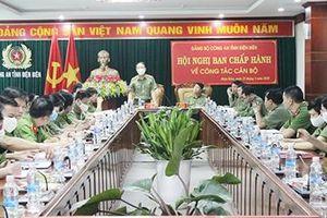 Đoàn công tác Bộ Công an làm việc với Công an tỉnh Điện Biên