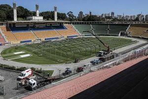 Sân bóng tổ chức World Cup biến thành bệnh viện dã chiến chống Covid-19