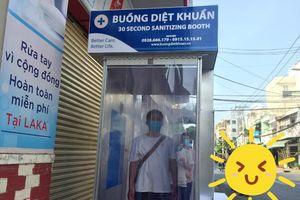 Quận Tân Phú có điểm khử khuẩn miễn phí cho người dân