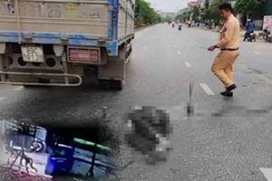 Clip người đàn ông Bắc Ninh chạy qua đường bị xe tải cán chết