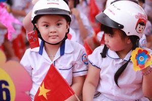 70% trẻ em đội mũ bảo hiểm khi tham gia giao thông