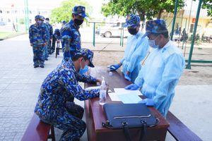 Lữ đoàn 171 Hải quân: Luyện tập phương án tiếp nhận người cách ly tập trung