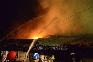 Bình Phước: Cháy kho lò đốt của công ty môi trường
