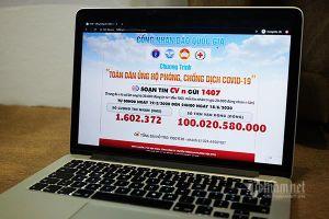 Đã có hơn 100 tỷ đồng ủng hộ phòng, chống Covid-19 qua Cổng Nhân đạo 1407