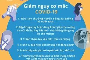 6 cách giảm nguy cơ mắc COVID-19 ai cũng cần thực hiện