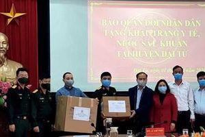 Báo Quân đội nhân dân trao thiết bị y tế ủng hộ nhân dân huyện Đại Từ phòng, chống dịch Covid-19