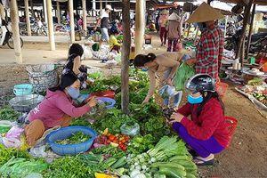Chợ quê trong những ngày phòng, chống dịch Covid-19