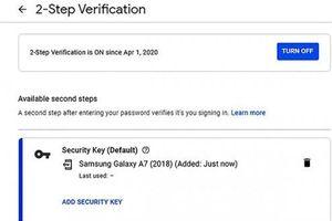 Cách thiết lập điện thoại Android làm chìa khóa xác thực đăng nhập tài khoản Google