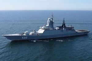 Tàu hộ vệ tên lửa Nga diễn tập tìm diệt tàu ngầm