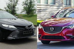 Toyota Camry 2.0G và Mazda6 Premium - cuộc chiến sedan D giá 1 tỷ đồng