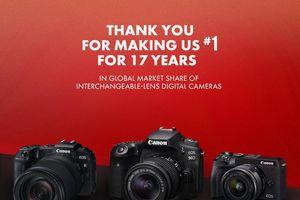 Canon đánh dấu năm thứ 17 liên tiếp dẫn đầu thị trường máy ảnh kĩ thuật số