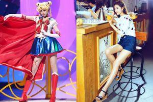 Quan Hiểu Đồng khoe đôi chân 108 cm khi cosplay Thủy thủ Mặt Trăng