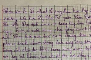 Xúc động bức thư của cậu học sinh 7 tuổi gửi chiến sĩ tuyến đầu phòng dịch