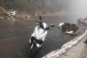 Va phải đá tảng rơi xuống đường, một người dân Sa Pa bị thương