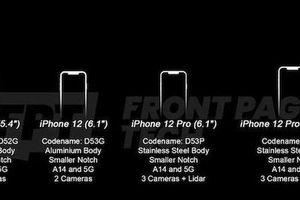 iPhone 12 lộ diện 'trùm cuối' siêu đỉnh