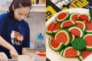 Bé gái lớp 6 học mẹ làm bánh vừa ngon vừa đẹp như thợ chuyên nghiệp, nhìn thành quả ai cũng 'mắt tròn mắt dẹt'