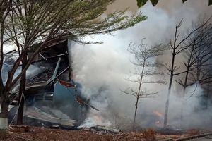Cháy kho chứa hạt điều ở Bà Rịa – Vũng Tàu