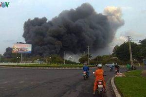 Cháy ngùn ngụt trong khu công nghiệp Phú Mỹ 1, Bà Rịa - Vũng Tàu