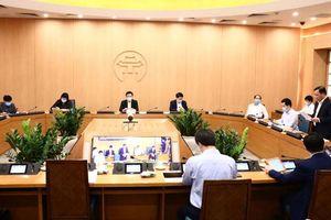 Bí thư Thành ủy Hà Nội chủ trì họp Ban chỉ đạo phòng, chống Covid-19