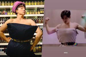Khi Trấn Thành, Ali Hoàng Dương quyết định bắt trend lấy gối làm váy không hề kém cạnh hội chị em phụ nữ