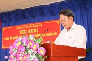 Chủ tịch huyện Đất Đỏ bị kỷ luật vì liên quan đến những sai phạm đất đai