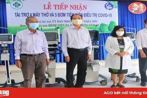Bệnh viện Đa khoa trung tâm An Giang tiếp nhận 4 máy thở, 5 máy bơm tiêm điện điều trị dịch bệnh Covid-19