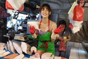 'Hot girl bán cá' đổi đời, thành người mẫu sau bức ảnh chụp lén ở chợ