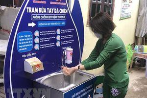 Đưa mô hình trạm rửa tay dã chiến phòng, chống dịch vào hoạt động