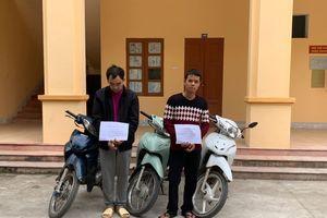 24h phá án, bắt 2 đối tượng chuyên trộm cắp xe máy