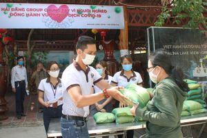 Công ty TNHH Hải Đăng tặng gạo cho người nghèo