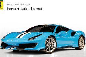 'Siêu ngựa' Ferrari 488 Pista sơn xanh Blu Soltani lạ mắt