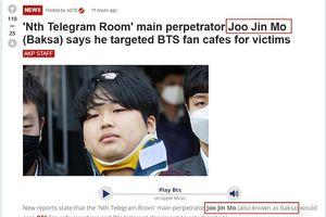 Nhầm lẫn chết người: Diễn viên Joo Jin Mo bị tố là kẻ cầm đầu 'Phòng chat thứ N', dụ dỗ fan BTS