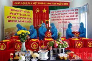Truy điệu và an táng hài cốt liệt sỹ hy sinh ở Lào, Campuchia