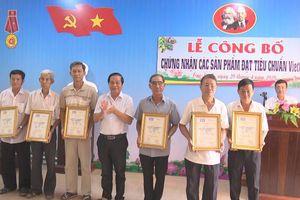 Huyện Cao Lãnh công bố chứng nhận các sản phẩm đạt chuẩn VietGAP