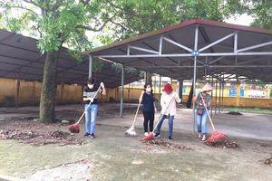 Huyện Sóc Sơn: Hoàn thành tổng vệ sinh trường lớp đón học sinh trở lại sau dịch Covid-19