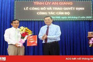 Phó Bí thư Huyện ủy Chợ Mới Nguyễn Như Anh giữ chức Phó Trưởng ban Tổ chức Tỉnh ủy