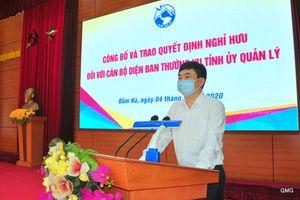 Trao quyết định nghỉ hưu theo chế độ cho các đồng chí lãnh đạo huyện Đầm Hà