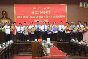 Bổ nhiệm nhân sự, lãnh đạo mới tại Thái Bình, An Giang