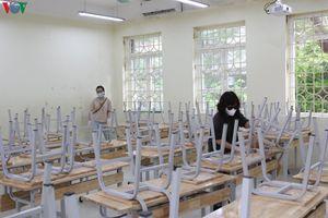 Các trường học Hà Nội sẵn sàng đón học sinh đi học trở lại