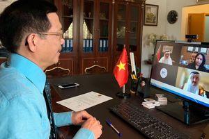 Đại sứ Vũ Viết Dũng trình Thư Ủy nhiệm lên Bộ trưởng Ngoại giao Bahrain bằng hình thức trực tuyến
