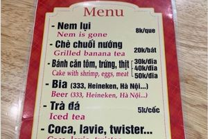 Dịch tên món Việt sang tiếng Anh thế này ai xem cũng 'khóc dở mếu dở'
