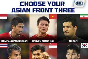 Quang Hải xuất hiện trong danh sách 9 cầu thủ tấn công ấn tượng nhất châu Á