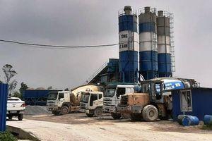 Trạm trộn bê-tông kéo lùi tiến độ xây dựng khu công nghiệp